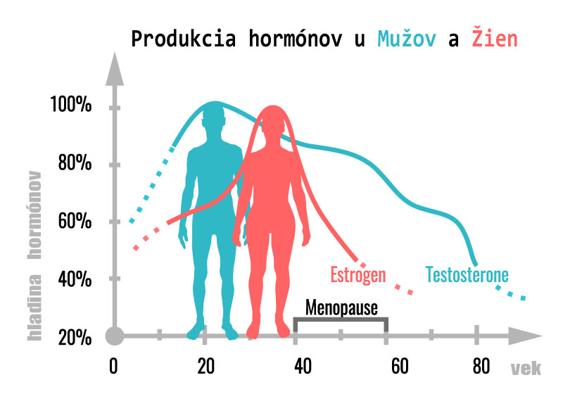 hladina hormónov u žien a mužov