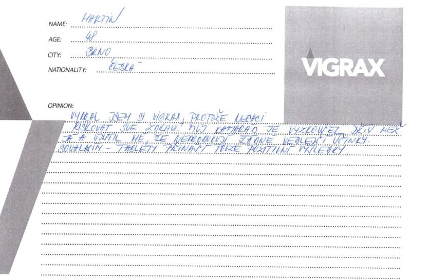 vigrax recenzia a skúsenosti